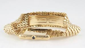 classic gold bracelet images Cartier yellow gold men 39 s classic tank on a gold bracelet jpg