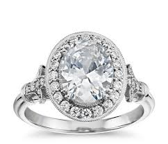 platinum vintage rings images Blue nile studio oval vintage fleur de lis halo engagement ring in