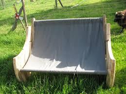 canap hamac meuble canapé hamac bois de touret et toile de coton meuble
