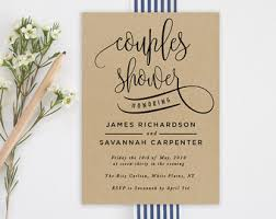 couples shower watercolor bridal shower invitation printed blue mint