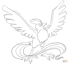 articuno coloring page free printable coloring pages