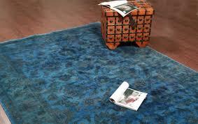 Blue Wool Rug Rugsville Traditional Overdyed Light Blue Wool Rug 6 U0027 X 9