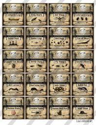 digital collage sheet potion labels vintage halloween 2x2