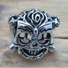classic skeleton ring holder images Same as film the expendables stallone ring 925 sterling silver jpg