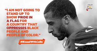 colin kaepernick color of change kneel with colin kaepernick