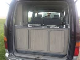 Bongo Tailgate Awning Nissan Silver Rear Bed Down 2 Nissan Elgrand Pinterest