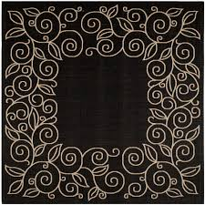 10 Square Area Rugs Safavieh Courtyard Black Beige 7 Ft 10 In X 7 Ft 10 In Indoor