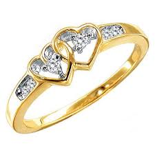 wedding gold rings two tone gold wedding rings yellow gold diamond in heart