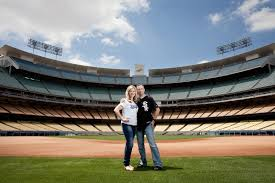 wedding photography los angeles and brian engagement dodger stadium los angeles