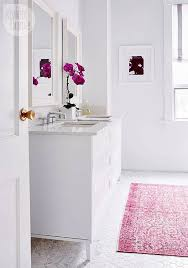 Rug In Bathroom Interiors By Jacquin Ditch The Bathmat Luxe Area Rug Ideas For