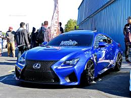 lexus rcf blue stanced lexus rc f at first class fitment mind over motor