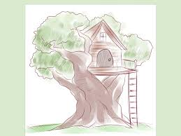 house to draw how to draw a tree house 5 steps with pictures wikihow