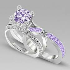 amethyst engagement ring sets best 25 purple wedding rings ideas on amethyst