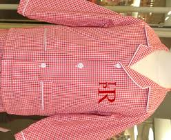 monogrammed christmas monogrammed gingham pajamas with pockets for christmas