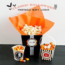 halloween party sticker with pumpkin wear headphones royalty free