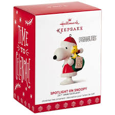 anniversary ornament peanuts spotlight on snoopy 20th anniversary porcelain ornament