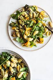pasta salad pesto butternut squash zucchini arugula pesto pasta salad the full
