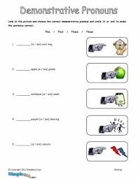 demonstrative pronoun worksheets mreichert kids worksheets