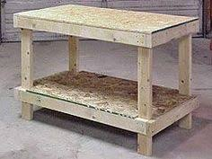 Diy Workbench Free Plans Diy Workbench Workbench Plans And Spaces by Ez 2 X 4 And 2 X 6 Island Or Workbench Diy Pinterest
