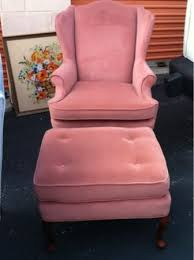 velvet chair and ottoman fun pink wingback chairs home decor with a dash of whimsy