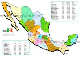 map of mexico cities map of mexico with cities and states major tourist