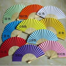 paper fans for weddings plain color folding paper fans weddings bridal accessories