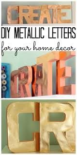 metallic paper crafts diy letters the country chic cottage