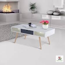 white vintage coffee table scandinavian coffee table retro style white wooden elegant unit