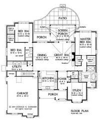 first floor plan of craftsman european farmhouse ranch house plan
