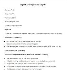 Resume Sample For Secretary by Secretary Resume Templates Top 8 Executive Secretary Resume