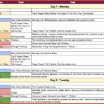 social media marketing plan template editorial calendar example