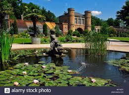 Karlsruhe Baden Baden Botanical Garden With Old Gate Building Castle Grounds Karlsruhe