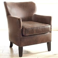 brown leather accent chair bryce leather accent chair living
