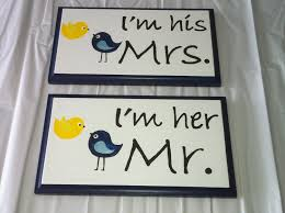 wedding stuff for sale sale birds wedding chair signs navy yellow i m mr i m