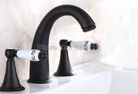 black vessel sink faucet widespread black oil antique brass bathroom basin faucet vessel sink