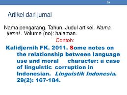 panduan penulisan daftar pustaka dari jurnal daftar pustaka standar ipb