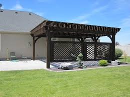 Lattice Pergola Roof by Covered Patio 5 Post 20 U0027 X 20 U0027 Diy Pergola Kit W Lattice Panels