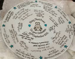 plate guest book personalised signature plates painted signing platters