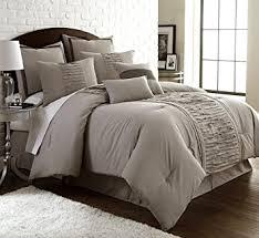 Taupe Comforter Sets Queen Amazon Com Amrapur Overseas Marilyn 8 Piece Ruffled Comforter