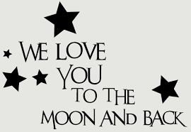 we love you to the moon and back kids wall decals vinyl stickers loading zoom