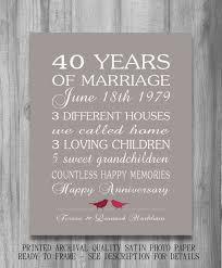 40th wedding anniversary gift ideas 40th wedding anniversary gifts best 25 40th wedding anniversary