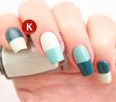 green half and half nails 40 great nail art ideas kerruticles