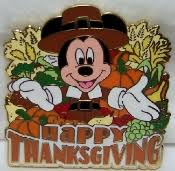 disney pilgrim mickey happy thanksgiving le 3000 pin new