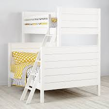 Build A Bear Bunk Bed Twin Over Full by Uptown White Twin Over Full Bunk The Land Of Nod