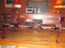 Partner Desk For Sale Armslist For Sale Trade Vintage Mahogany Chippendale Partners Desk