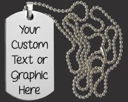 Personalized Dog Tag Necklaces Personalized Dog Tag Necklace Etsy