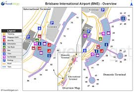 Airport Map Brisbane Airport Map Brisbane International Airport Map Australia