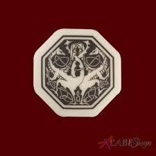 dragon octogonal celtic porcelain necklace