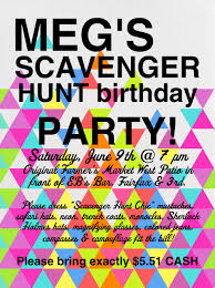 scavenger hunt birthday party invitations dolanpedia invitations