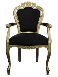designer stühle esszimmer casa padrino barock esszimmer stuhl mit armlehne schwarz gold